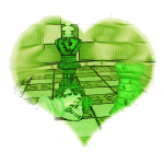 Ein Herz für Schach - hellgrün
