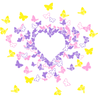 Butterfly Heart In Colour 2