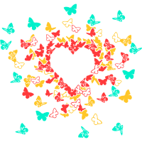 Butterfly Heart In Colour 1