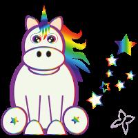 Regenbogen Einhorn