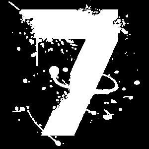 numéro 7 blanc