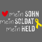 Gelbe Schleife - Mein Sohn, Soldat & Held weiss