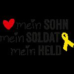 Gelbe Schleife - Mein Sohn, Soldat & Held schwarz