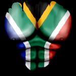 Südafrika Flagge Gerippt Muskeln