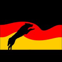 Deutschlandflagge mit Hund