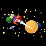 Cartoon ruimte raket 01