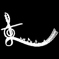 Weiß-Geige&Noten