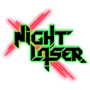 Night Laser Bandlogo - Schwarz-Rot-Grün