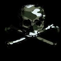 Camo skull-crossbones