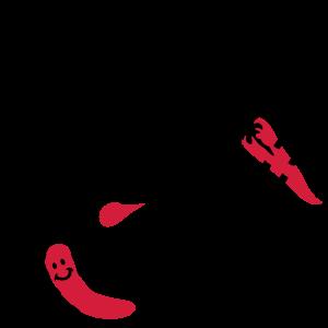 Grillparty mit Bratwürstchen und Paprikaschote