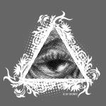 Auge Dreieck Floral W.