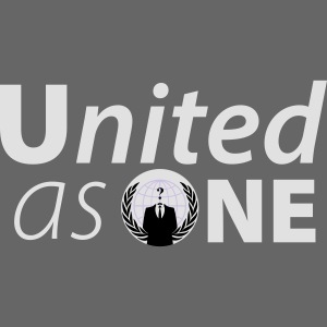 anonymous united as one white flex