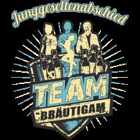 Team Bräutigam zum Junggesellenabschied
