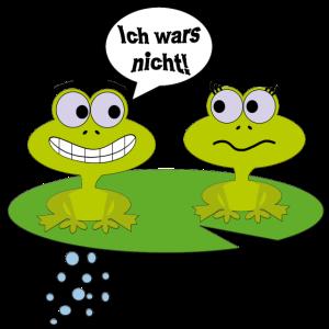 Comic-Frösche