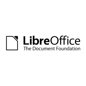 LibreOffice w TDF tagline black white