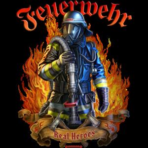 Feuerwehr real Heroes, original RAHMENLOS® Design