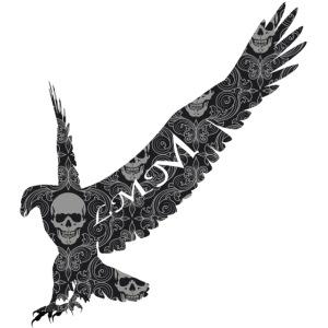 Aigle noir têtes de mort png