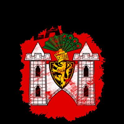 Plauen - Wappen der Stadt Plauen im Vogtland mit schwarzem Titel - Wappen,Vogtland,Plauen