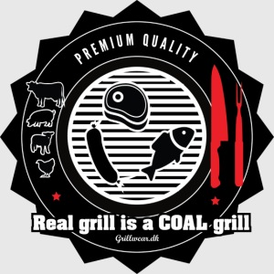 Real grill is coal grill
