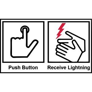 push button, receive lightning
