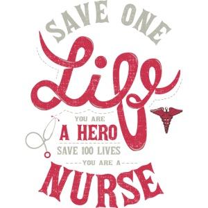 Vintage hero nurse