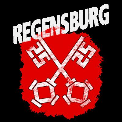 Regensburg - Wappen der Stadt Regensburg mit weißem Titel - Wappen,Regensburg,Oberpfalz