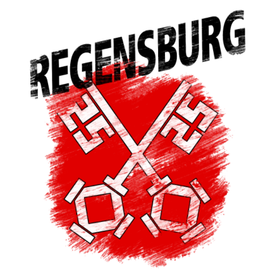 Regensburg - Wappen der Stadt Regensburg mit schwarzem Titel - Wappen,Regensburg,Oberpfalz
