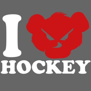 i love hockey white png