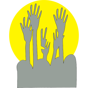 Hände in Konzert