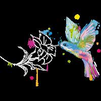 Kolibri und Blüte