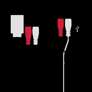 Audio und Strom Stecker