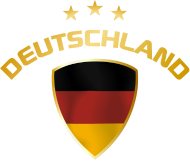 Fan-Shirt: fussball wappen deutschland gold