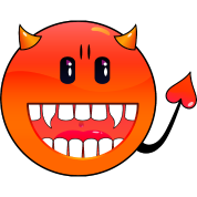 diavolo Emoticon / devil smiley (A1, DDP)