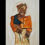 Frau mit Kind- Afrika