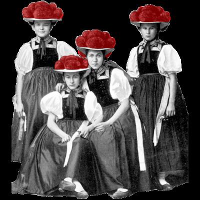 Schwarzwald Damen - Vier Grazien - yolo,lustig schwabe,cool lustig,Württemberg,Volksfest,Villinge,Tübingen,Traditionell,Tracht,Swag,Schwarzwald,Schwabe,Reutlingen,Muttertag,Konstanz,Hipster,Hippster,Geschenk lusti,Freiburg,Bollenhut,Bodensee,Badener,Baden-Württemberg