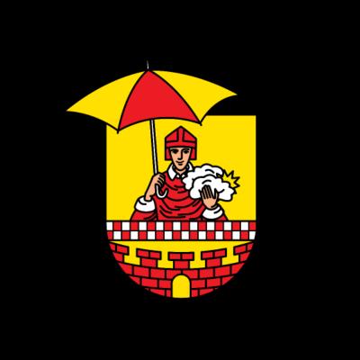 Regenscheid im Schauerlan - Lüdenscheider Wappen (Sauerland) mit Medardus, dem Patron der Bauern, Winzer, Bierbrauer und Schirmemacher - weiß,schauern,regnet,regnen,grau,Wolken,Wolke,Wetter,Wassertropfen,Wasser,Sonnenschein,Sonne,Schirme,Schirm,Schauerland,Schauer,Sauerland,Regenschirme,Regenschirm,Regenscheid,Regen,Medardus,Lüdenscheid