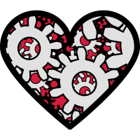 Love Machine dreifarbig