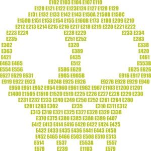 E-aditives skull - food aditives