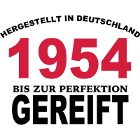 Geburtstag Jahrgang-Shirt 1954