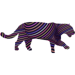 Jaguar in Stripes
