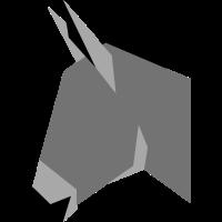 Esel (Kopf, flat design)