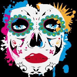 Sugar Skull Makeup Graffiti