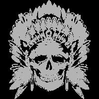 Häuptling Skull grau