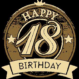 Happy 18 Geburtstag crown original Rahmenlos®