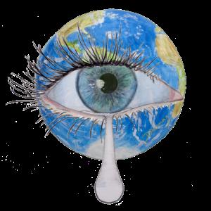 Planet Erde weint