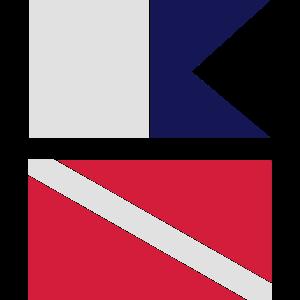 Signalflaggen Taucher