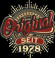Jahrgang 1970 Geburtstagsshirt: Geburtstag Original seit 1978 original RAHMENLOS®