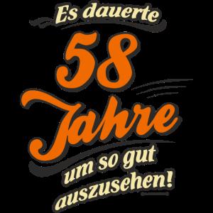 Geburtstag es dauerte 58 Jahre RAHMENLOS®