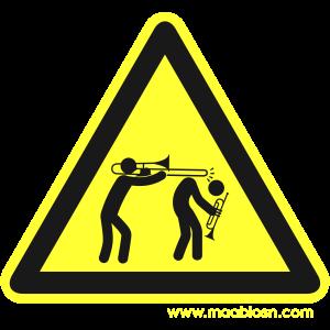 Gefahrenschild Posaune