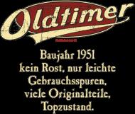 Jahrgang 1950 Geburtstagsshirt: Geburtstag Oldtimer Baujahr 1951 retro usedlook